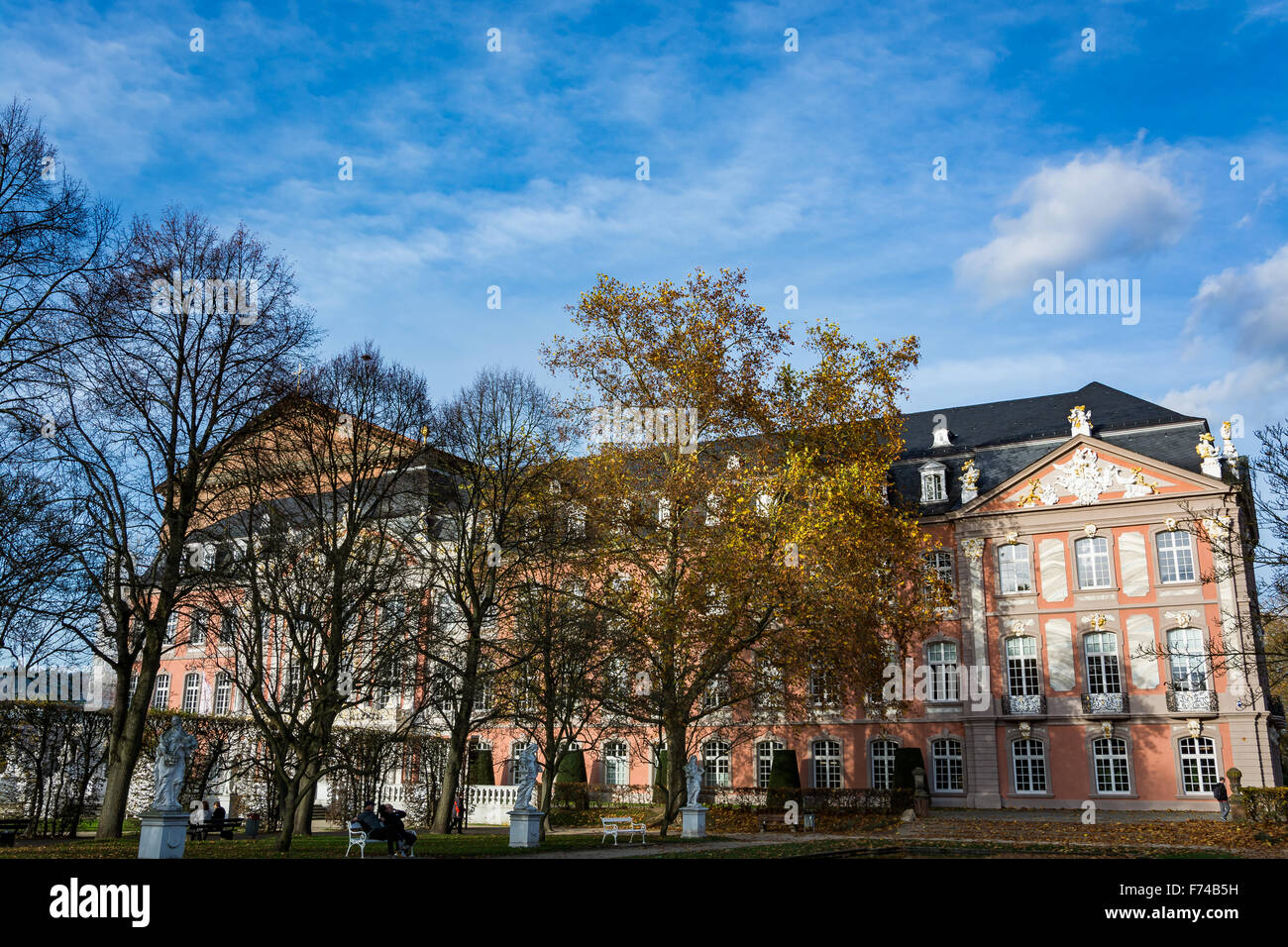 Electoral Palace in Trier in autumn, Germany - Stock Image