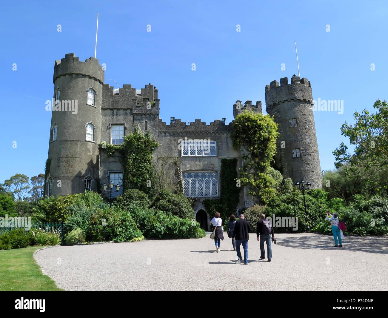 Malahide Castle, Malahide, Ireland - Stock Image