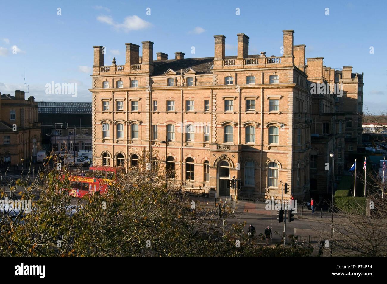 royal york hotel uk in york  Grade II listed building adjacent to York railway train station opened on 22 February - Stock Image