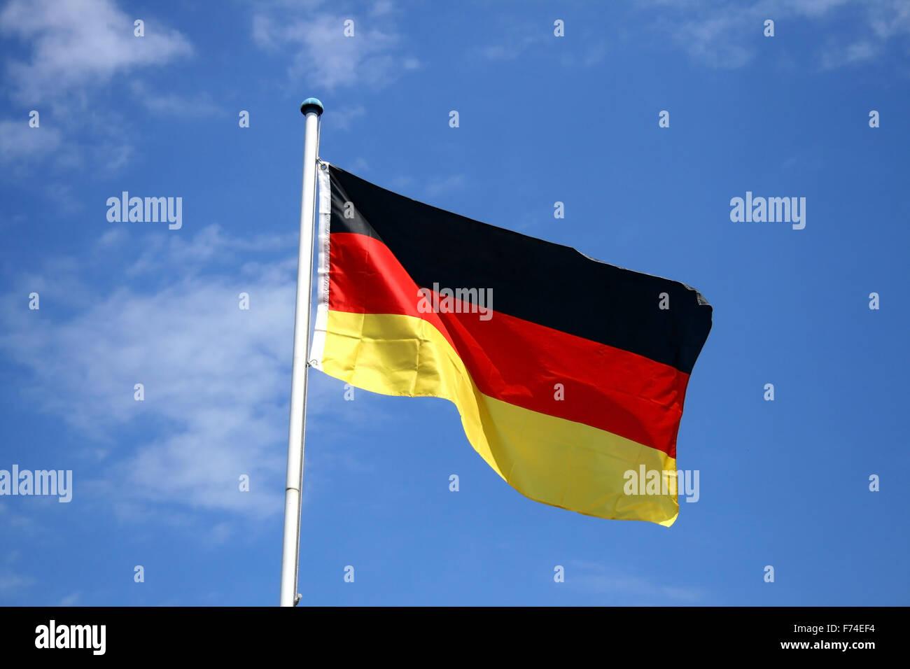 german flag - Stock Image