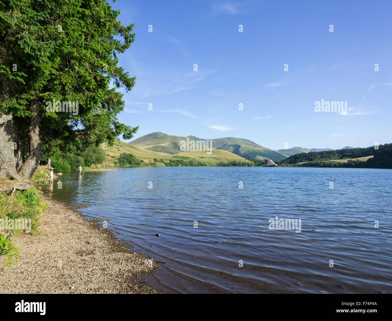 Lac de Guéry, Orcival, Auvergne, France - Stock Image