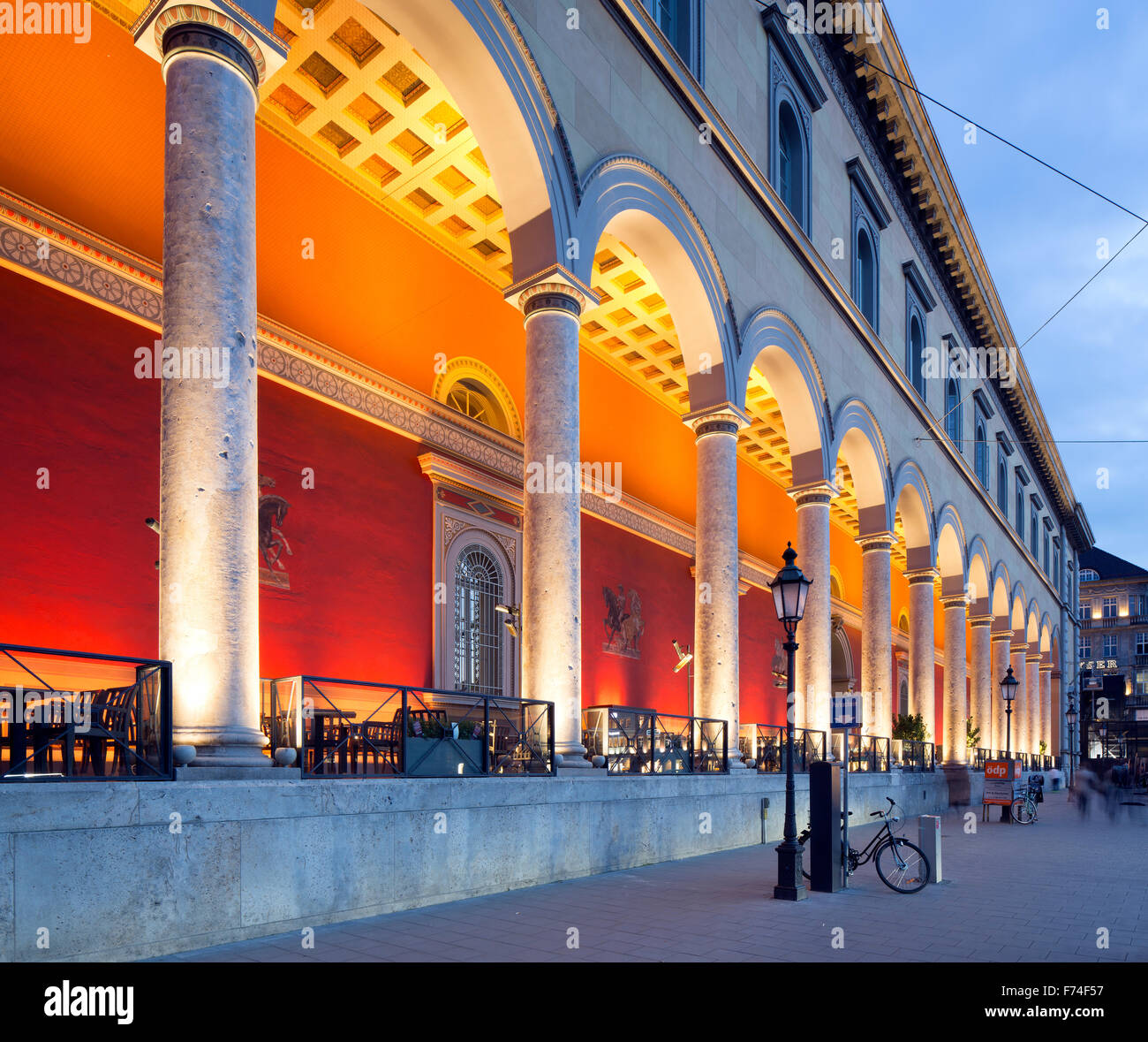 Exclusive office and residential building Palais at the Opera House with portico, former Palais Törring-Jettenbach, - Stock Image