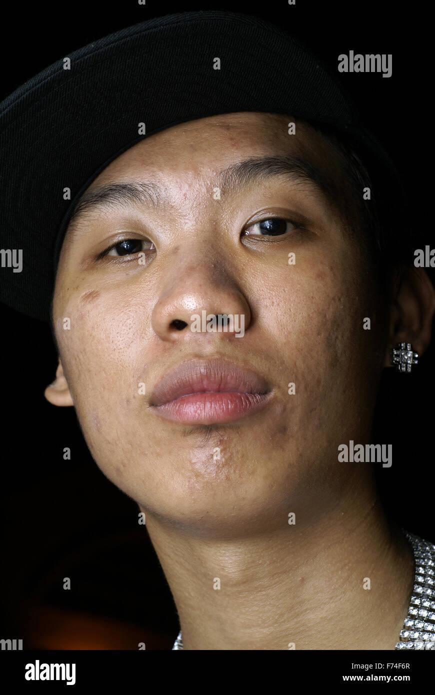 Hip Hop Rap Artist Wayne Lee Rocka Stock Photo