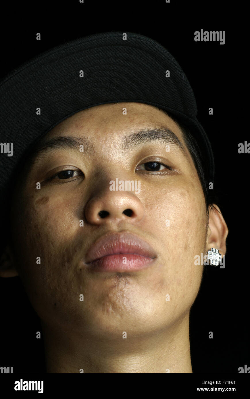 Hip Hop Rap Artist Wayne Lee Rocka Stock Photo