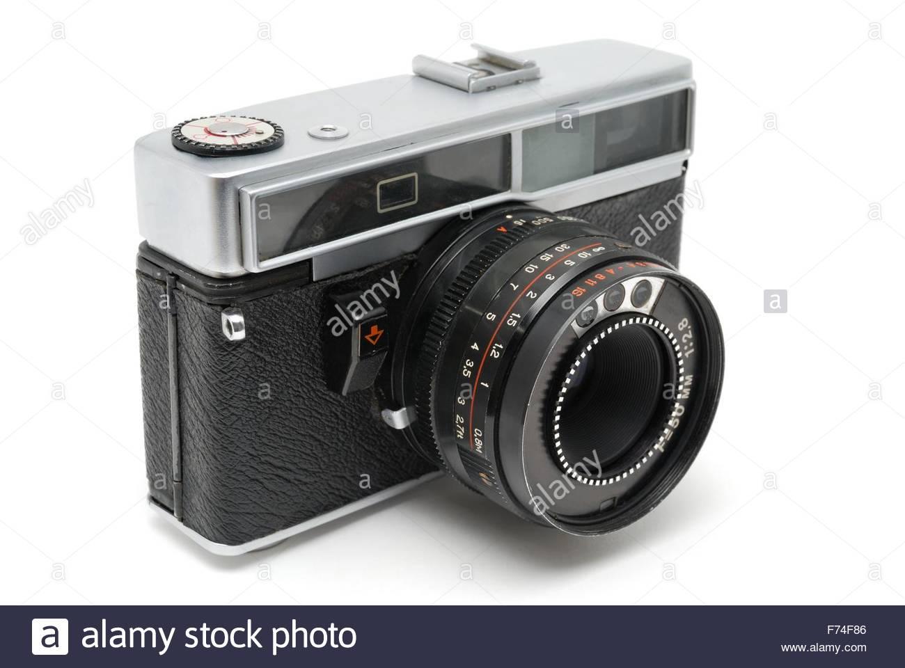 Old Soviet photo camera - Stock Image