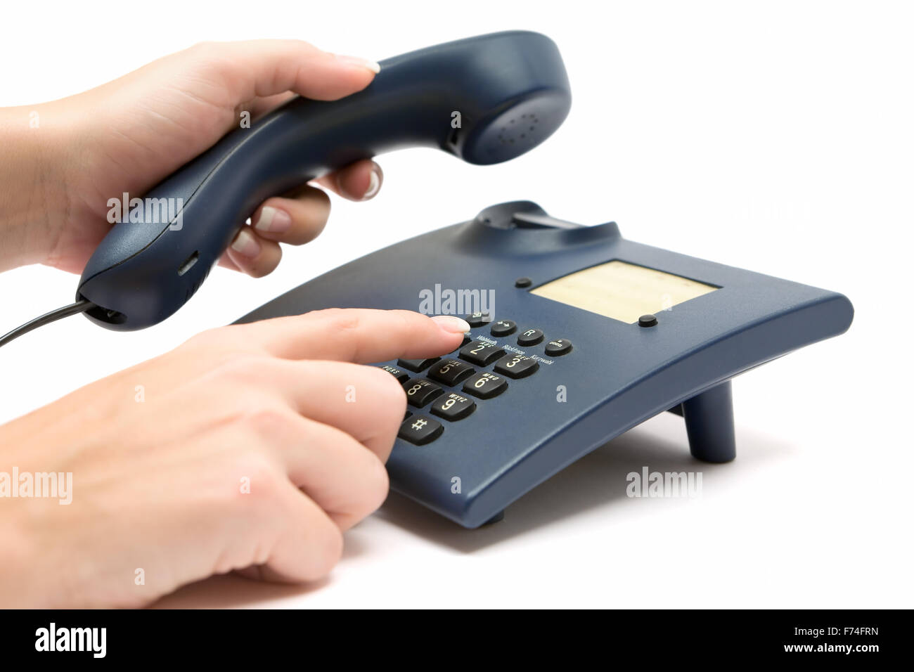 Making a Phone Call - Stock Image
