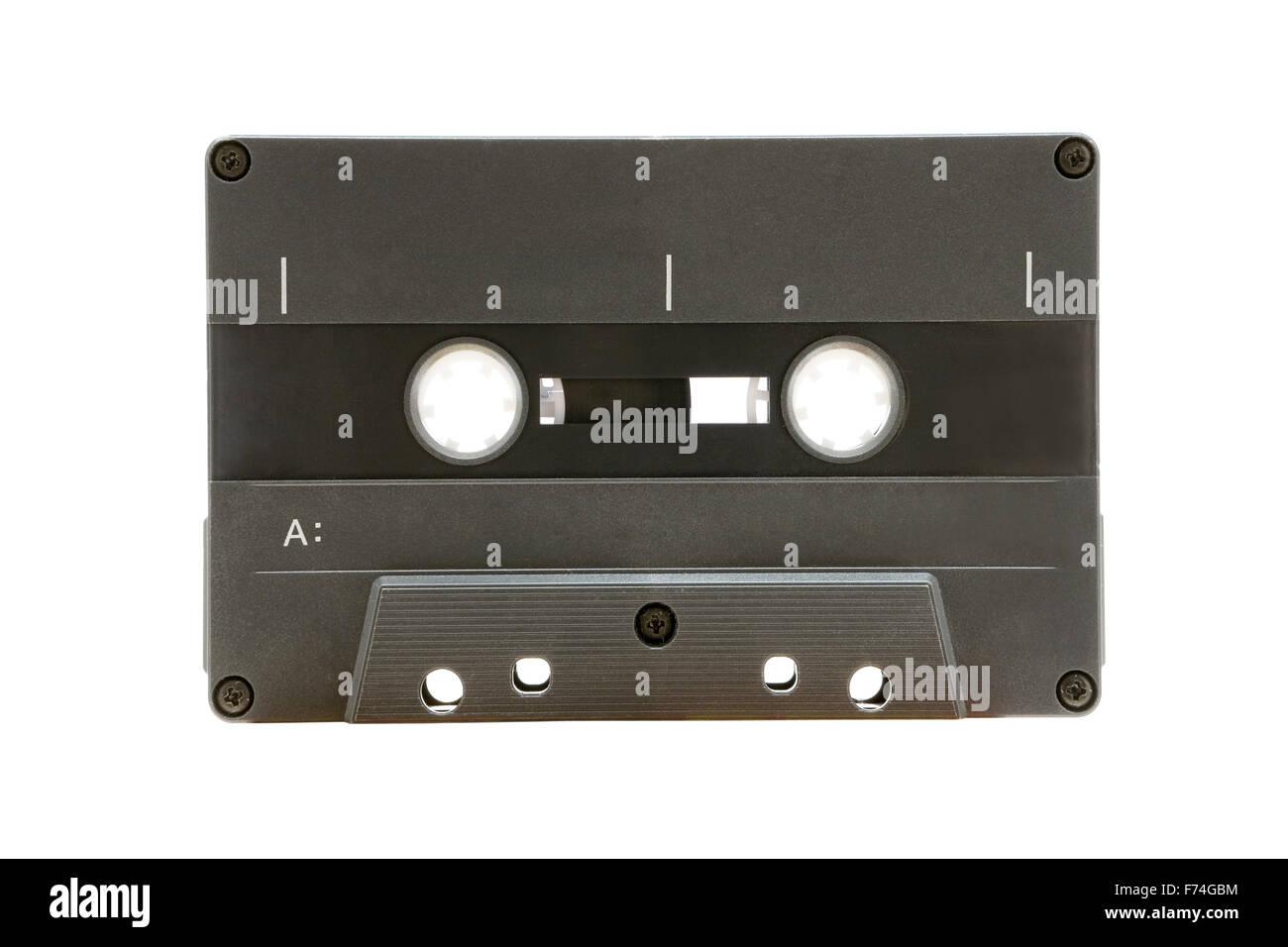 Grey Audio Tape - Stock Image