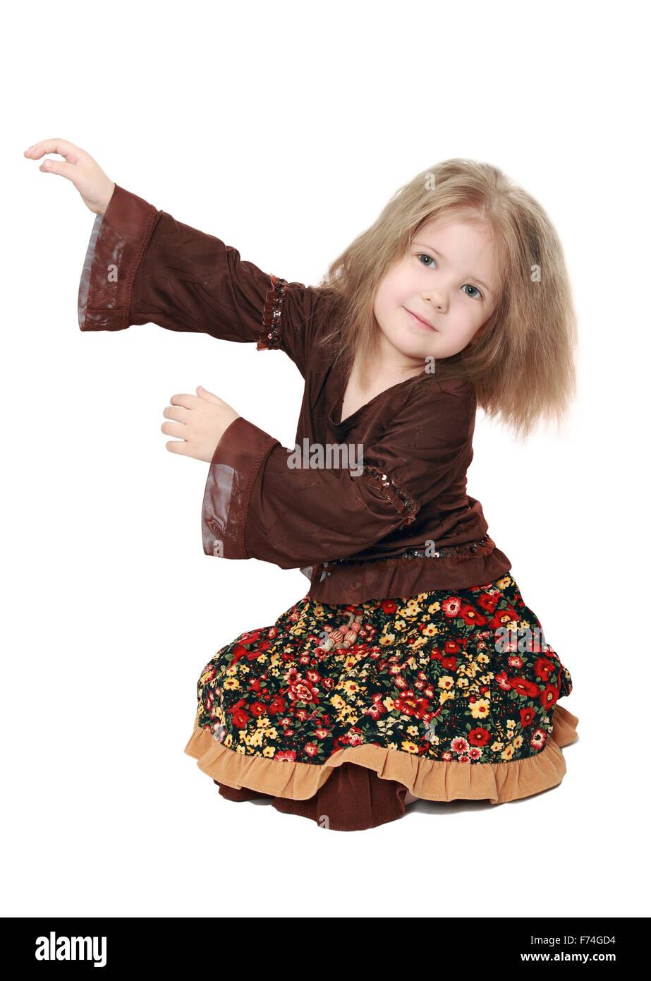 Element of children's dance - Stock Image