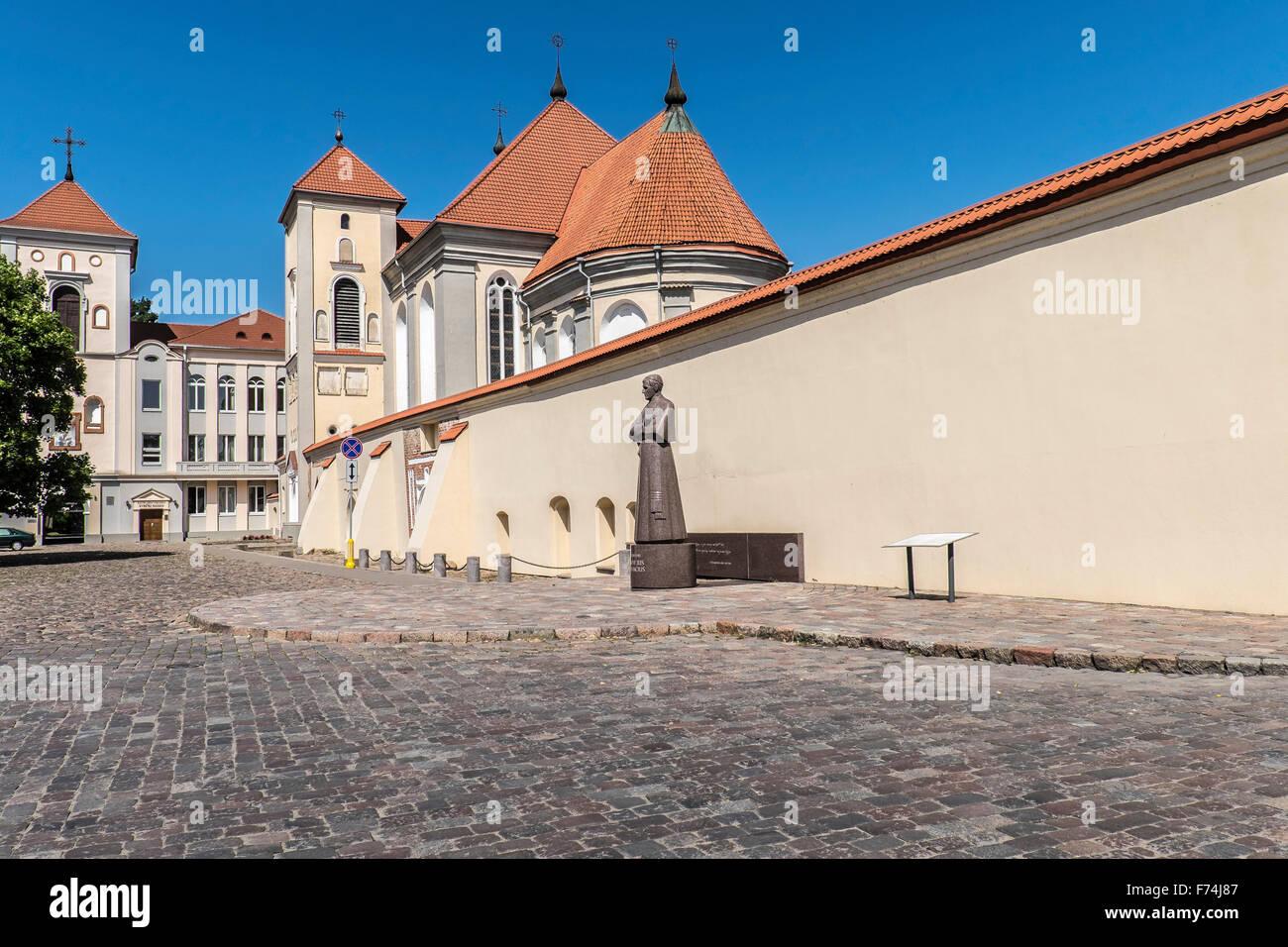 Guest House of Kaunas Archdiocese, Kaunas, Lithuania - Stock Image