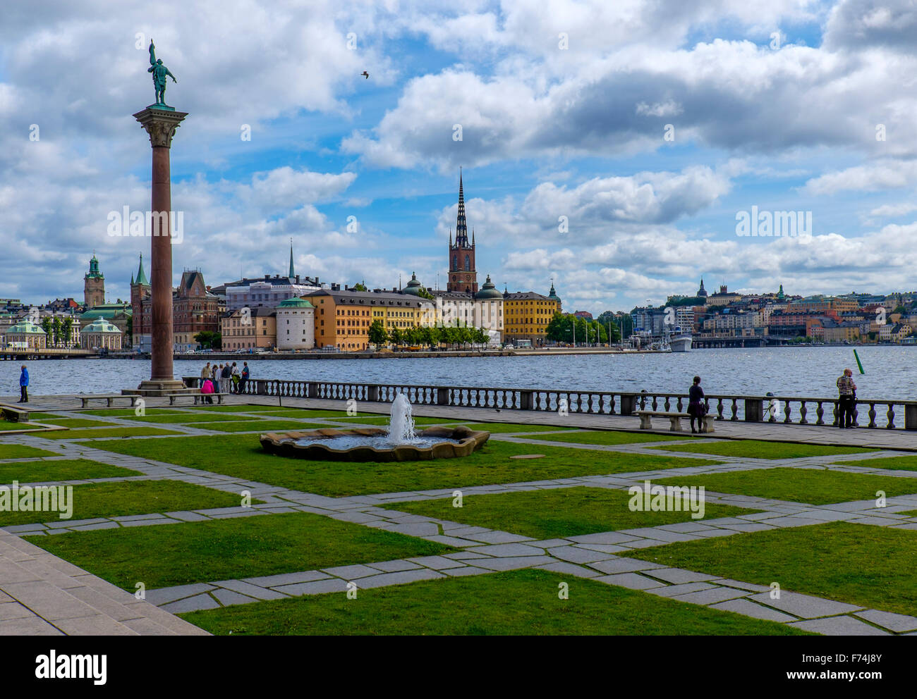 A view from the City Hall in Stockholm,Sweden - Stock Image