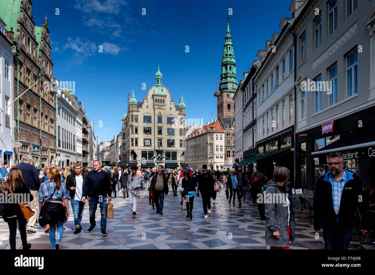 Amagertorv in Copenhagen, Denmark - Stock Image