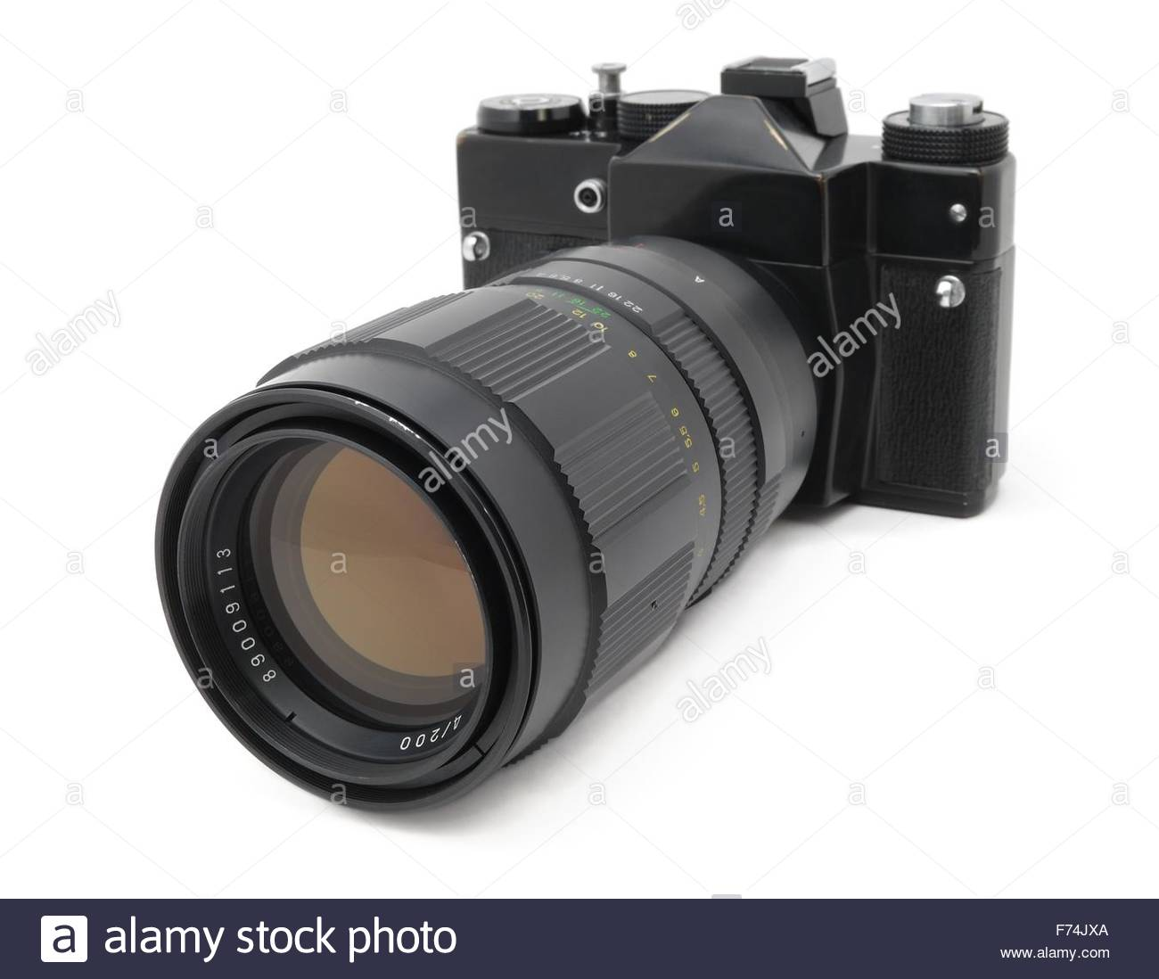 Old camera of a last century Stock Photo