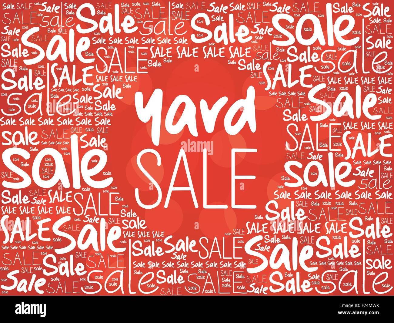 YARD SALE word cloud background, business concept - Stock Vector