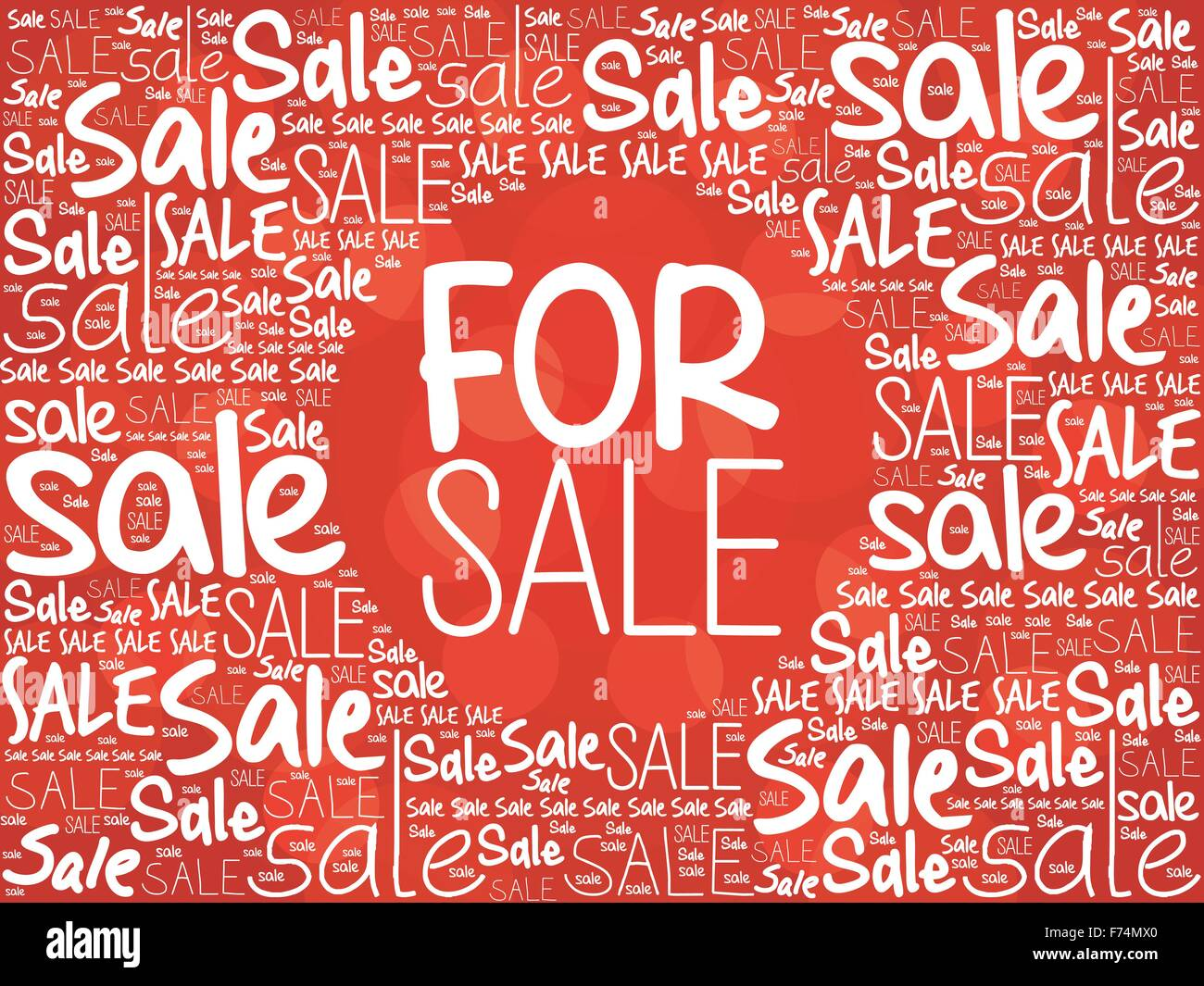FOR SALE word cloud background, business concept - Stock Image
