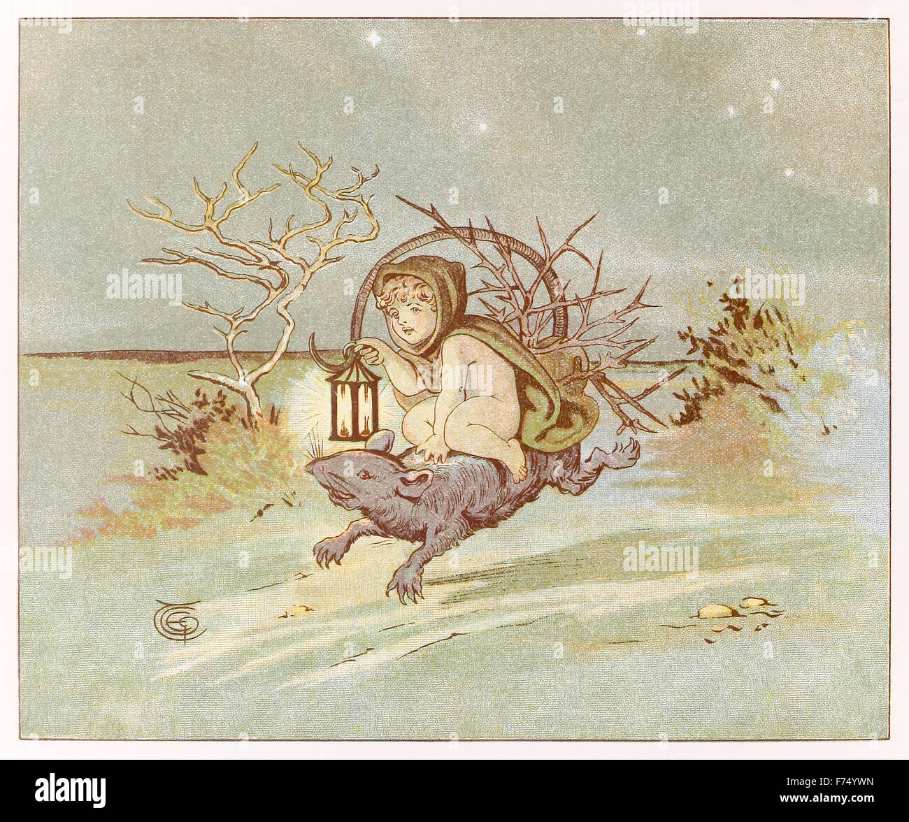 'They have planted thorn-trees, For pleasure, here and there' from 'The Fairies – A Child's Song' - Stock Image