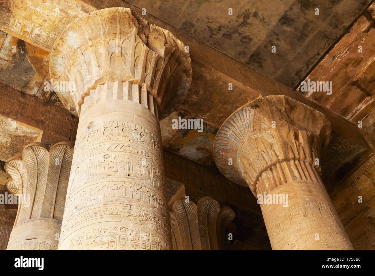 Egypt - Edfu, Temple of Horus - Stock Image