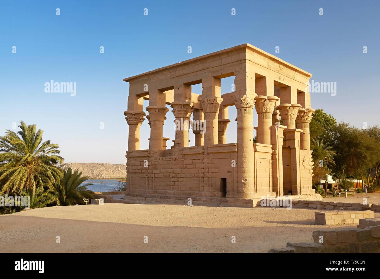 Egypt - Philae Island, Temple of Isis, UNESCO - Stock Image