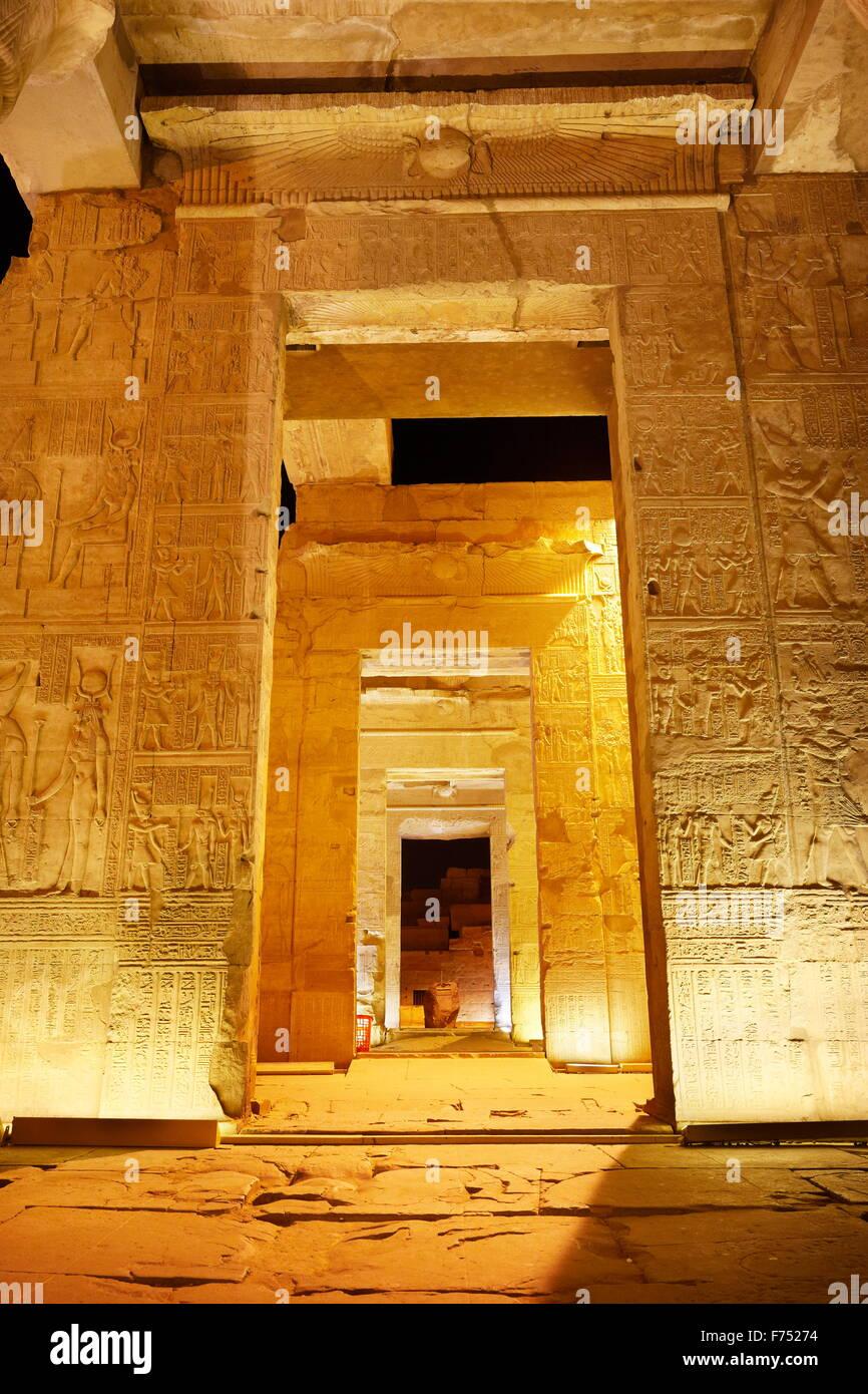Egypt - Kom Ombo, Temple of Sobek - Stock Image