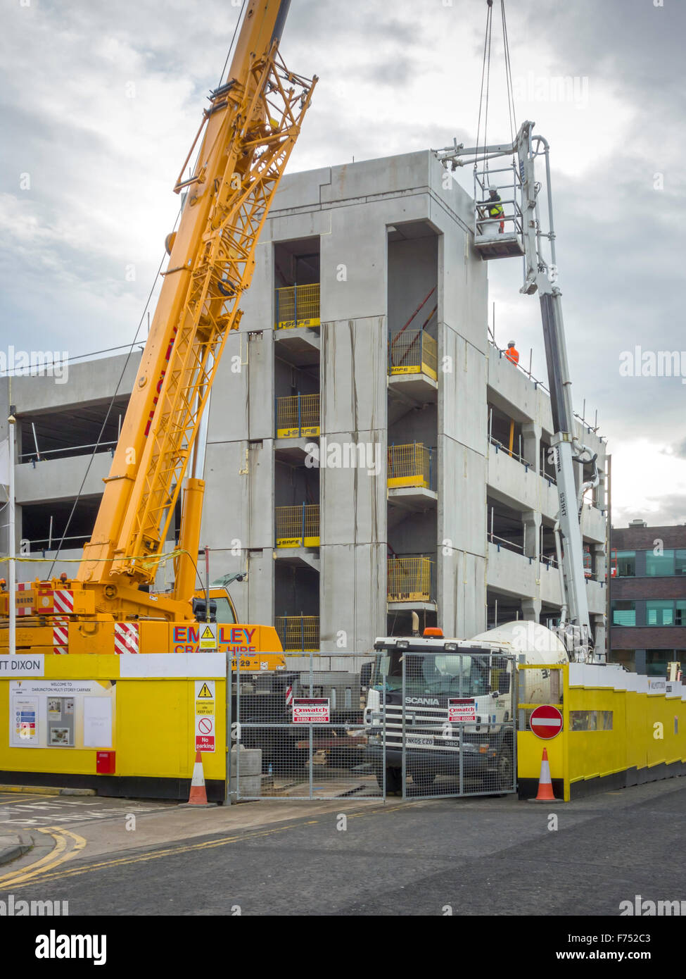 A Multi Storey Car Park Being Constructed In The Town Centre Stock