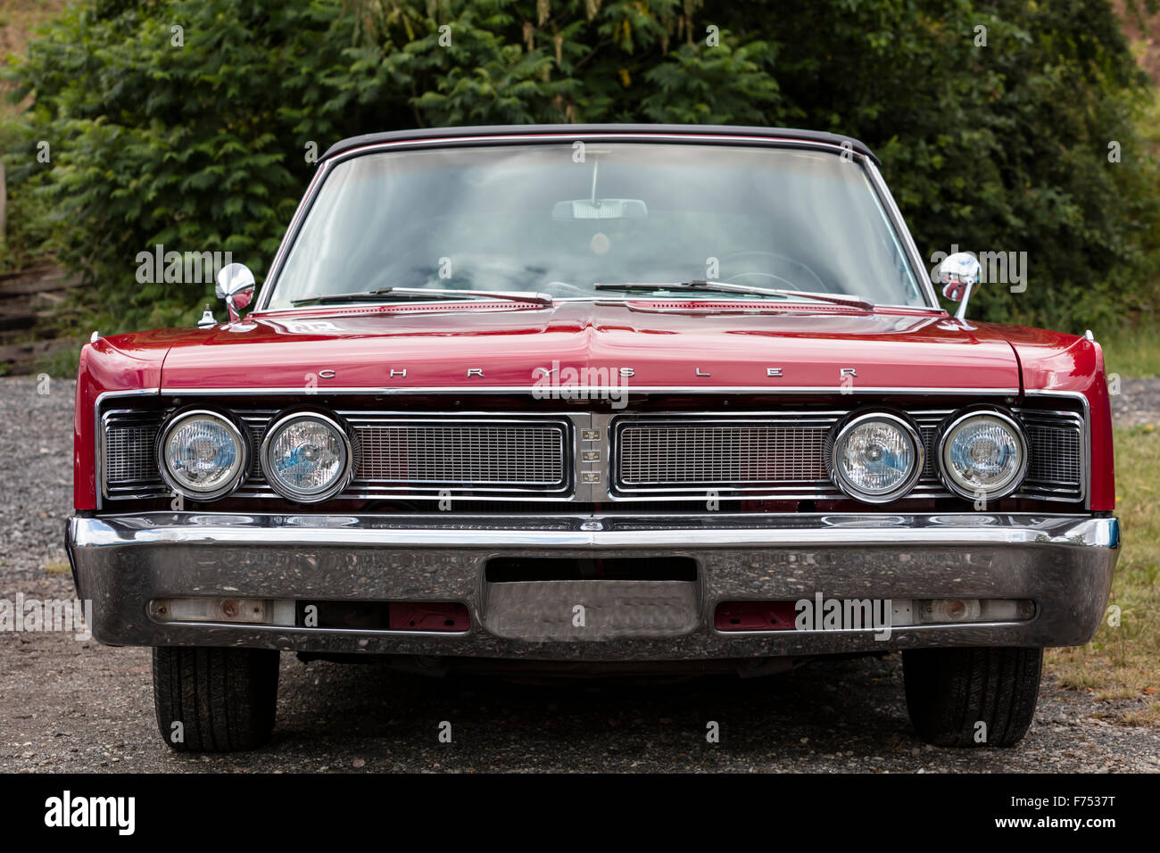 Front Detail Of A Chrysler Vintage Car Stock Photo 90466764 Alamy