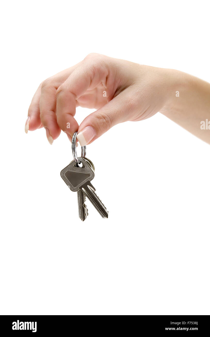 Holding a Bunch of Apartment Keys - Stock Image