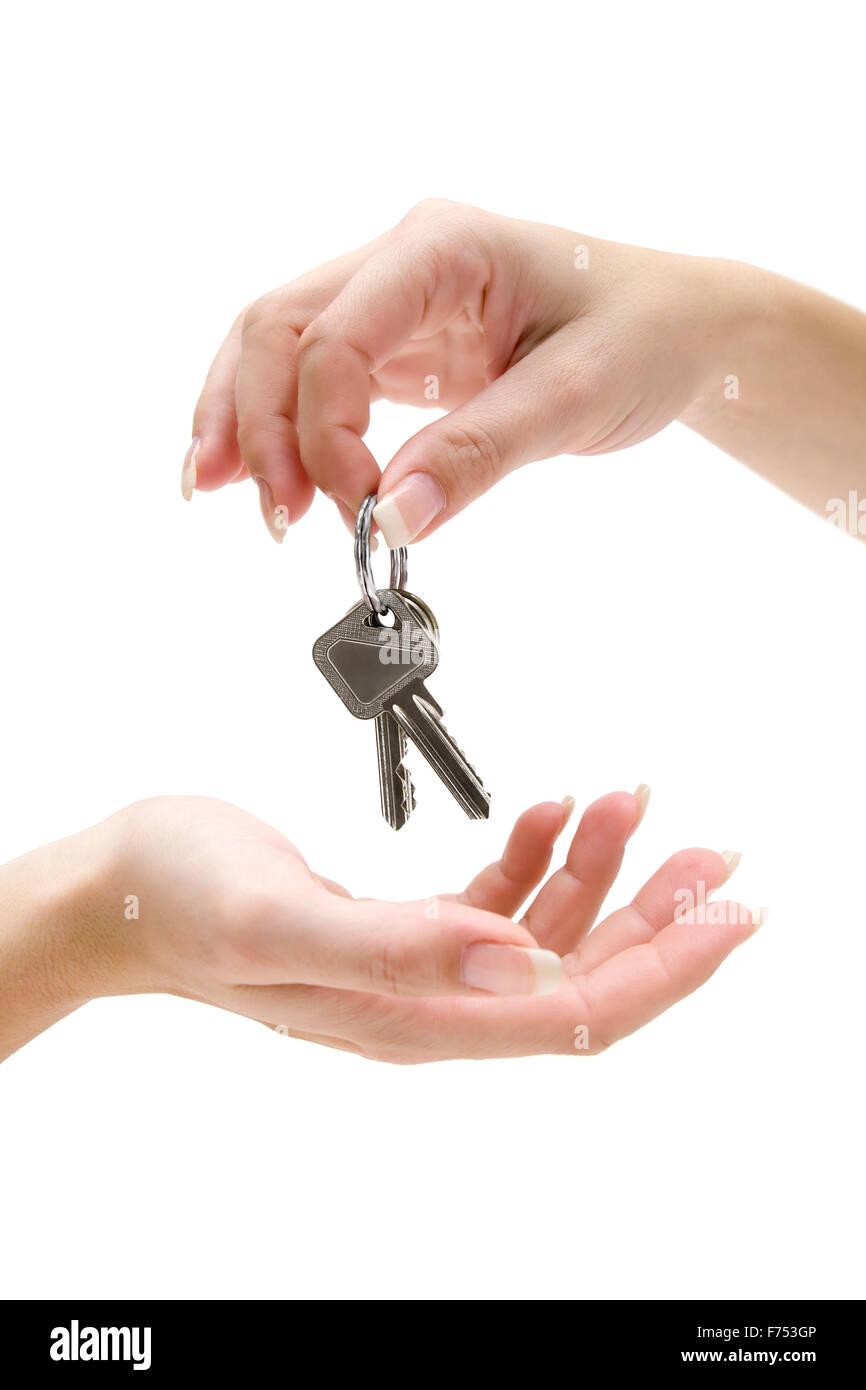 Handing Over Keys - Stock Image