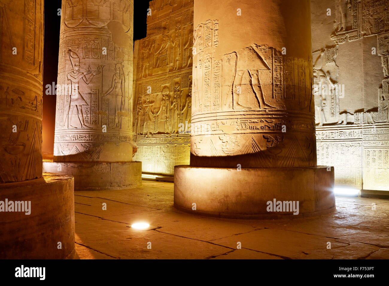 Egypt - Kom Ombo, Temple of Sobek Stock Photo