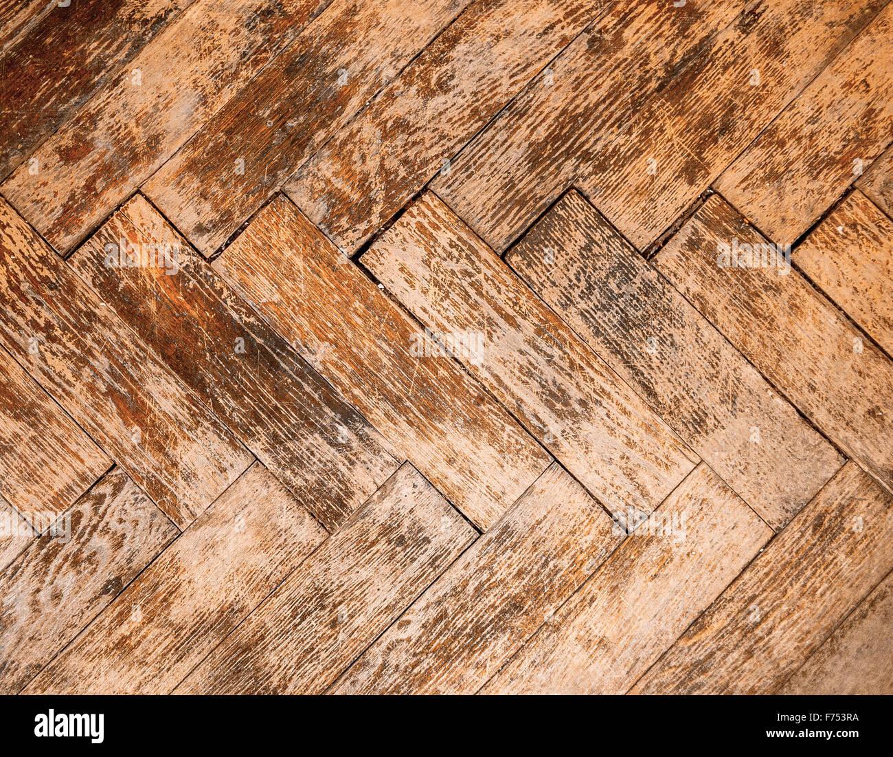 Vintage parquet floor - Stock Image