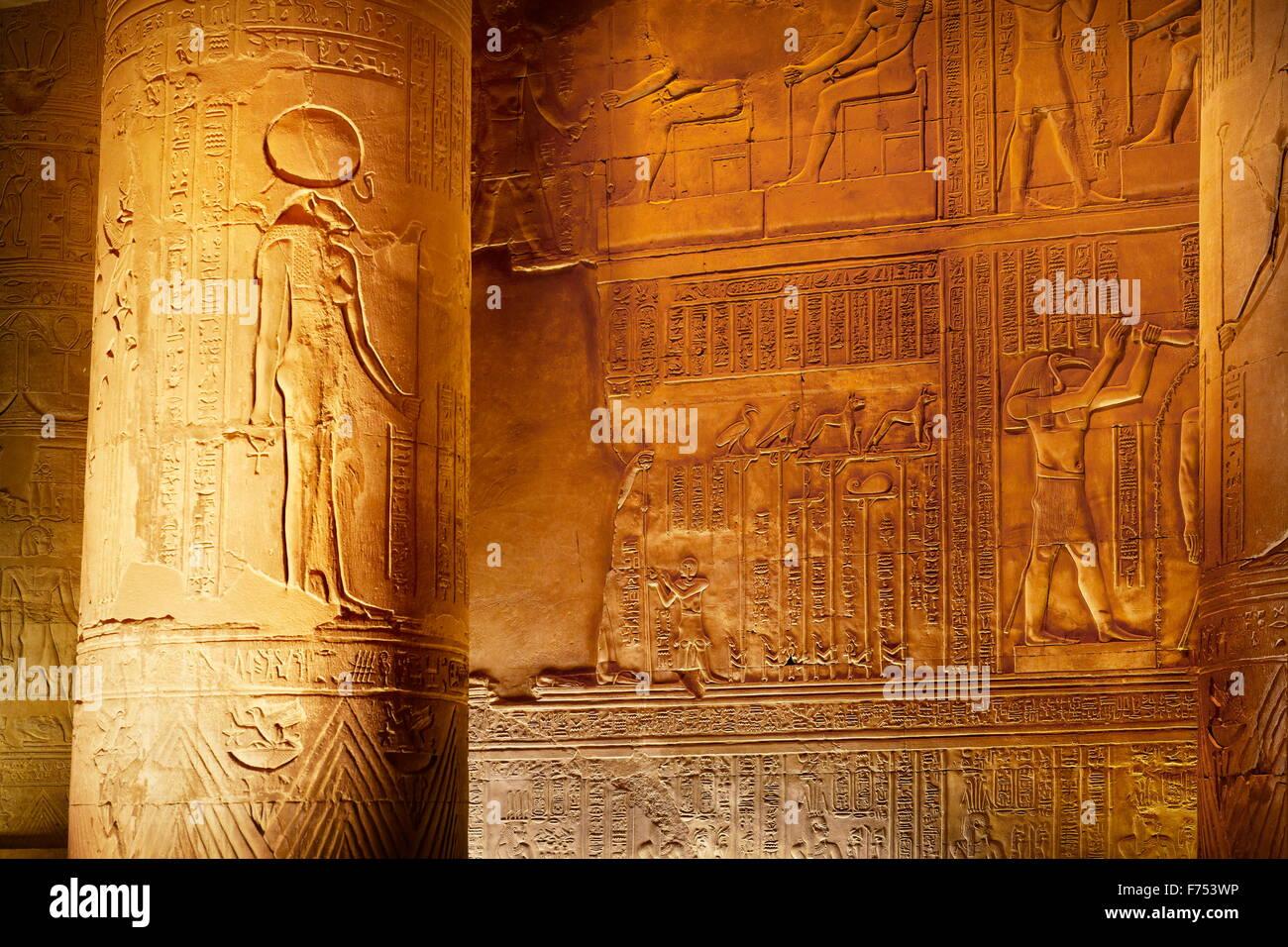 Egypt - Kom Ombo, Temple of Sobek Stock Photo