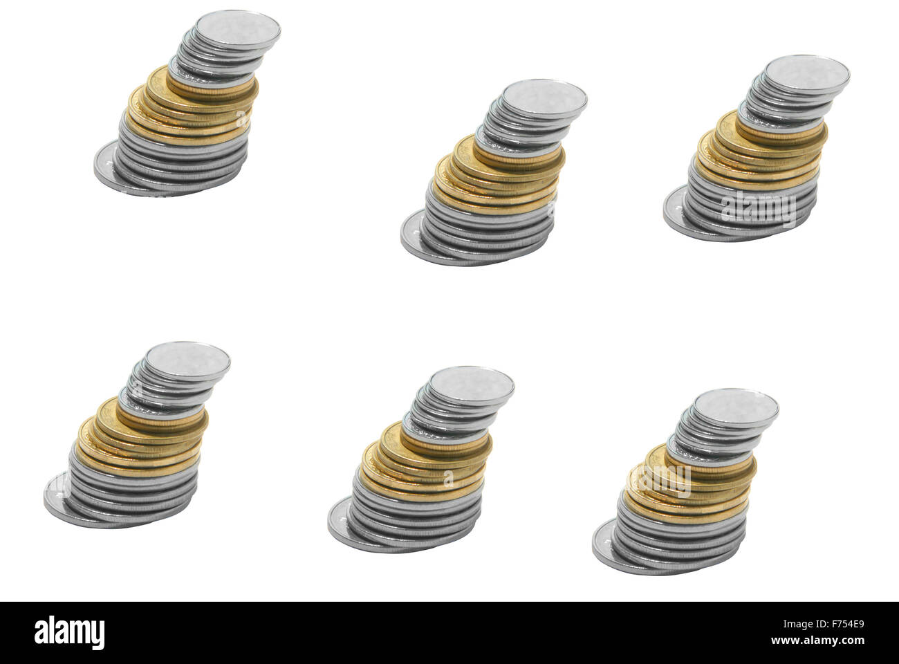 metal money isolatet on white Stock Photo