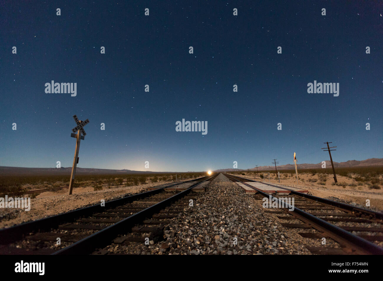 Railroads to the Big Dipper - Stock Image