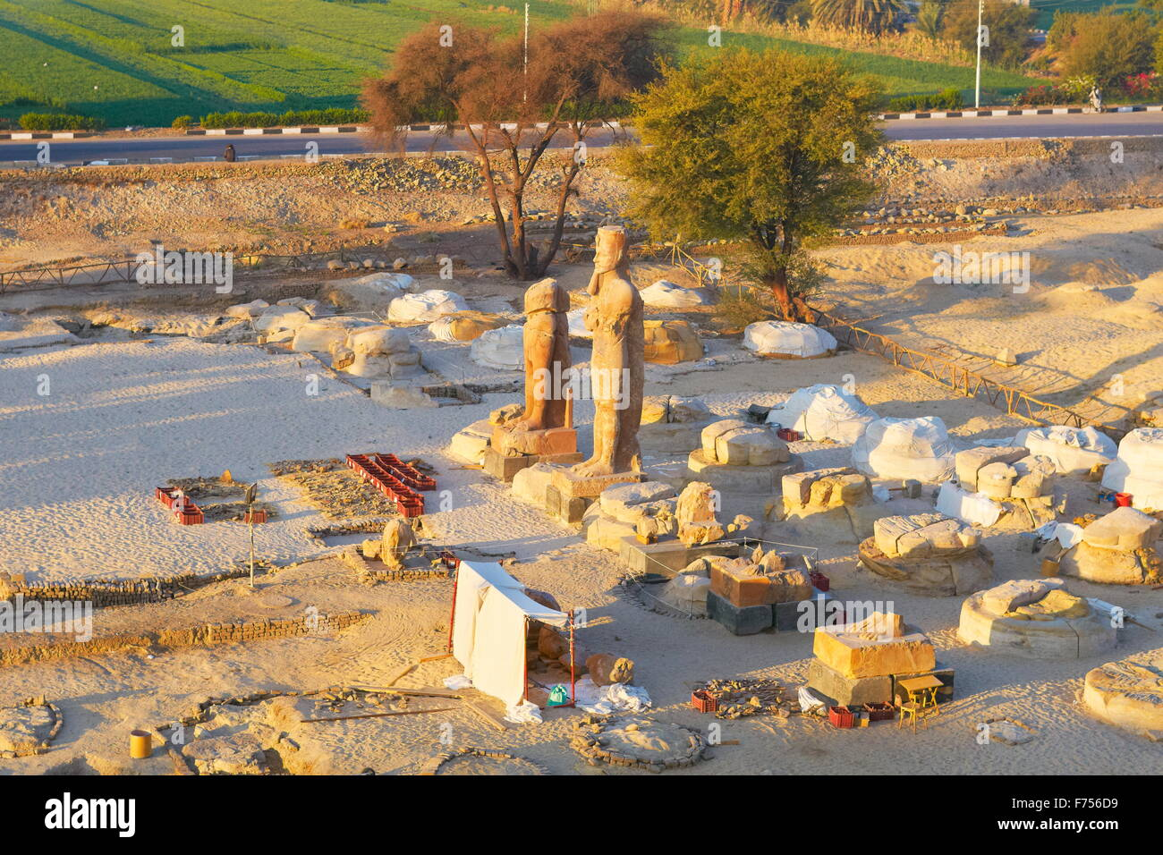 Egypt - archaeological site near Thebes - Stock Image
