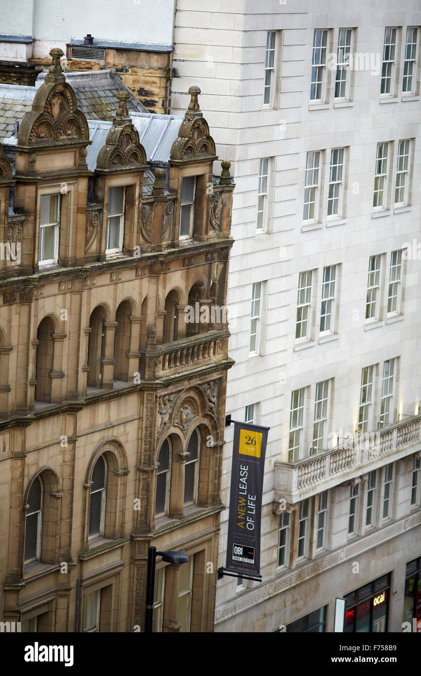 Office Building exteriors Manchester Cross Street - Stock Image