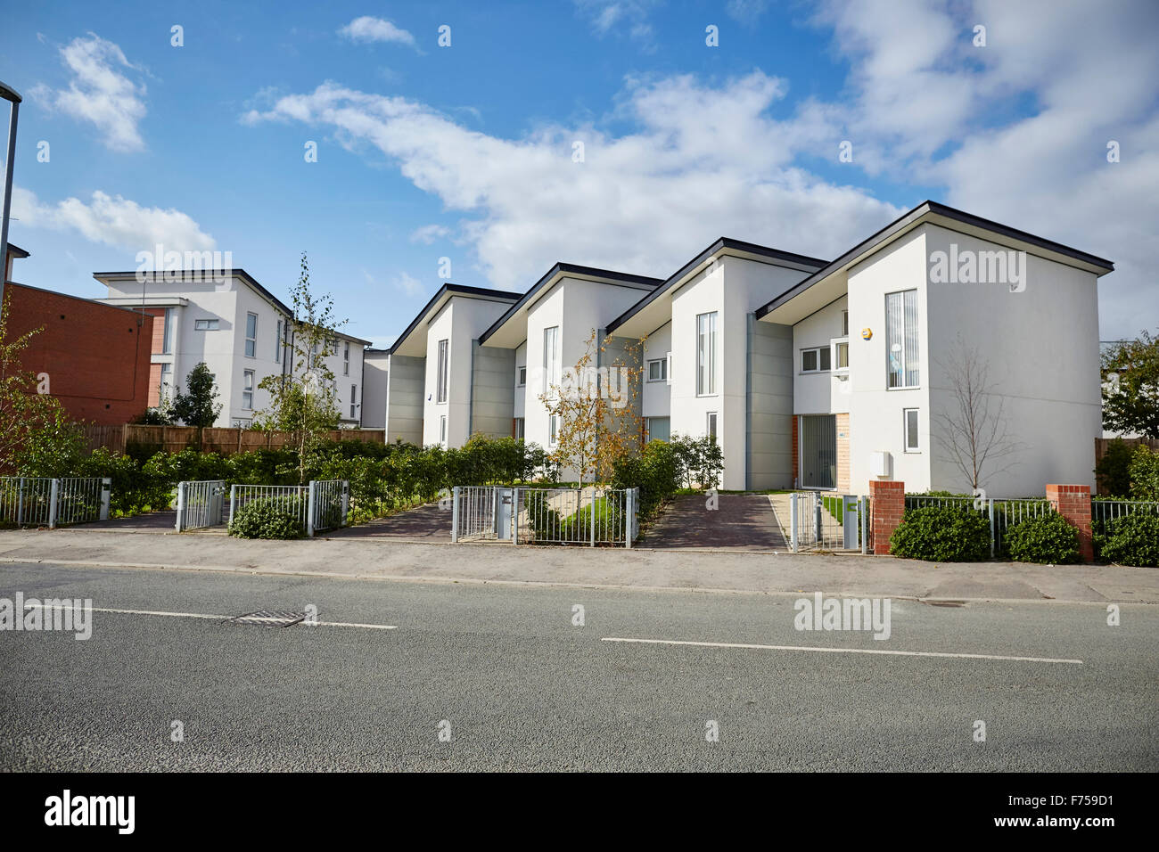 Modern houses in manchester uk development house home place living environment building street suburban suburbia suburbs town v