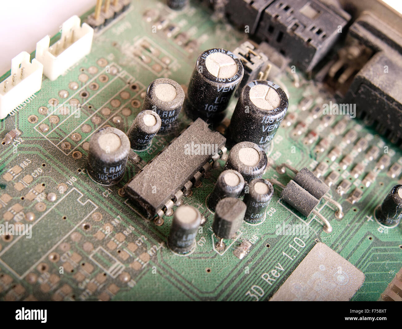 cpu processor isolated - Stock Image