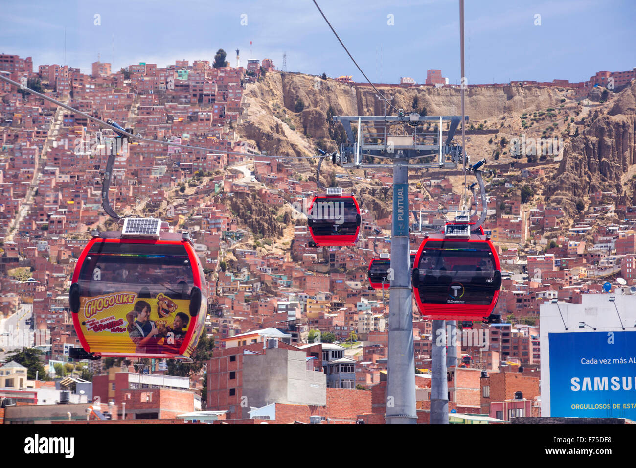 Cable Automotive Oklahoma City : A modern cable car system in la paz bolivia stock photo