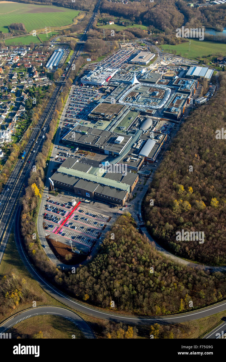 Ruhr Park Bochum on the A40 A43, shopping center, remodeling, roofing, restructuring, facelift, Bochum, Ruhr area, Stock Photo