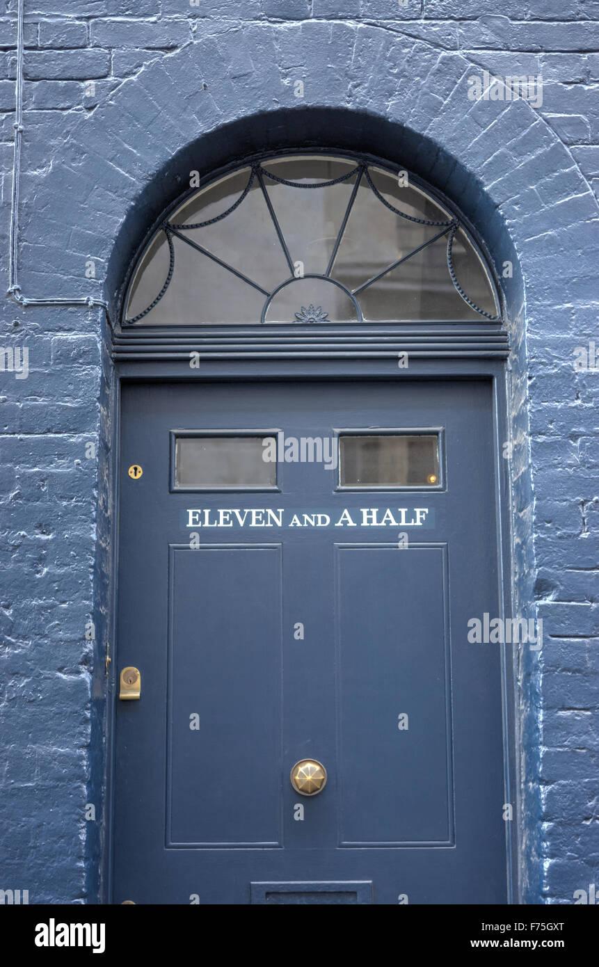 Exceptional Strange House Number Victorian Front Door London Blue Door