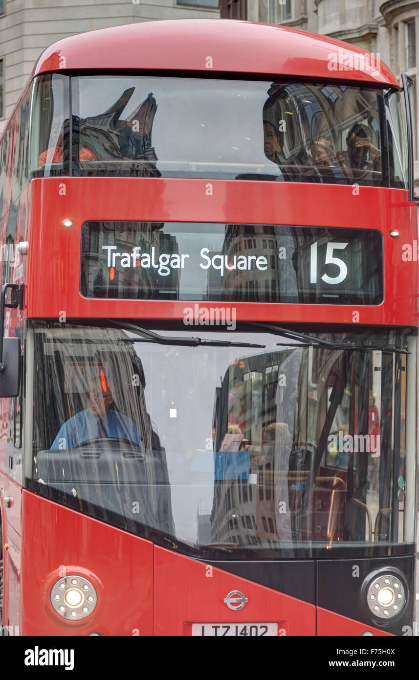 New London Bus. Red Double decker bus Stock Photo