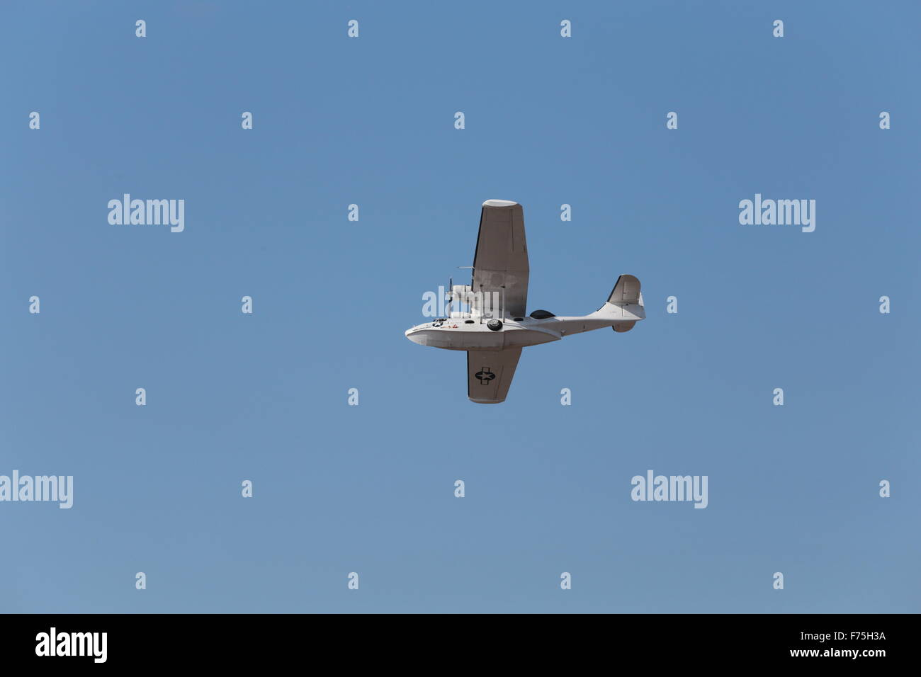 Catalina Flying Boat photographed at Southport airshow Lancashire in September 2014 Serial No. 433915 - Stock Image