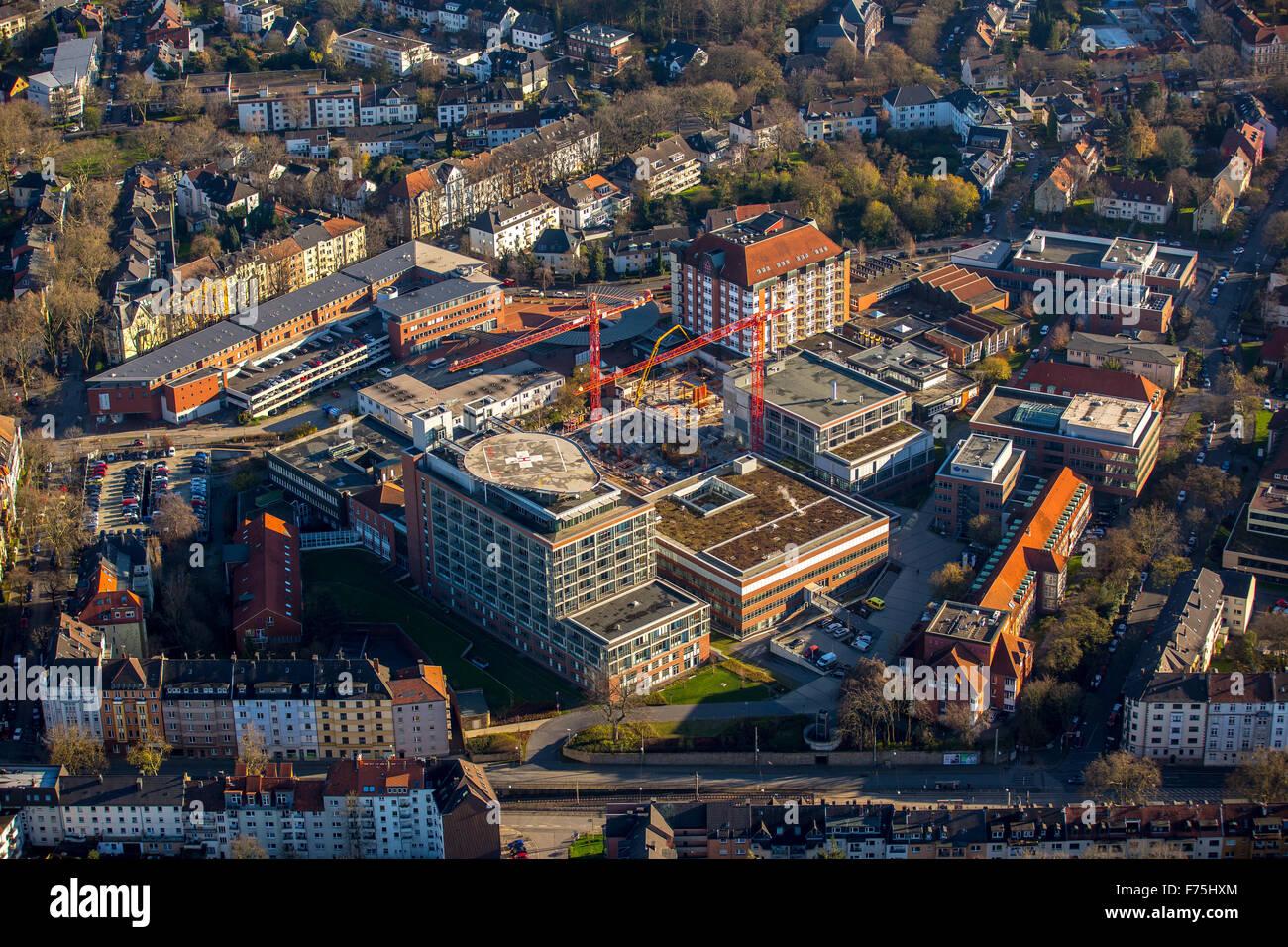 Construction work at the University Hospital Bergmannsheil Bochum, Bochum, Ruhr area, North Rhine-Westphalia, Germany, Stock Photo