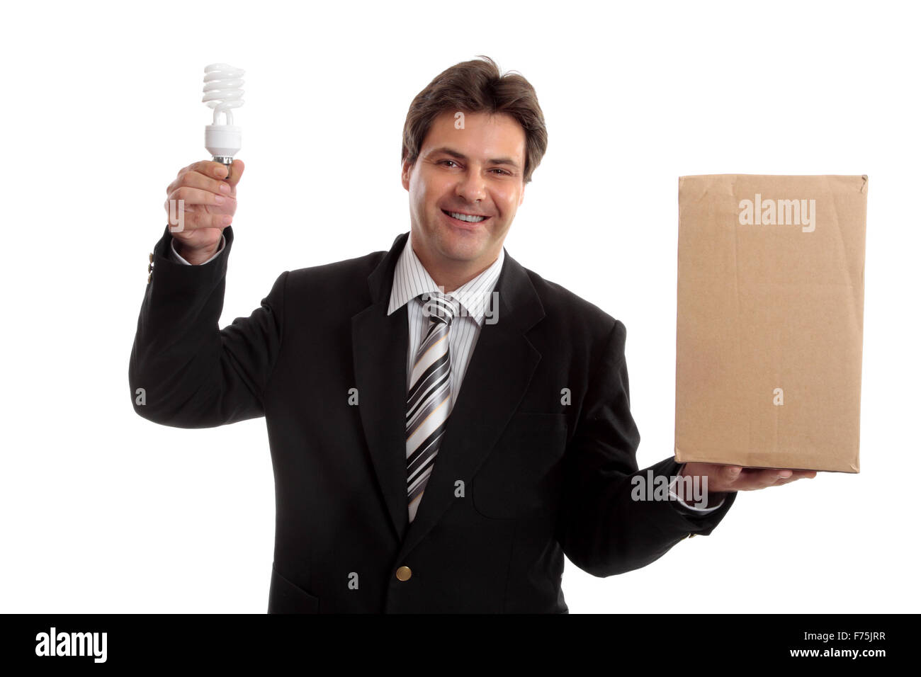 Business - Think outside the box Stock Photo
