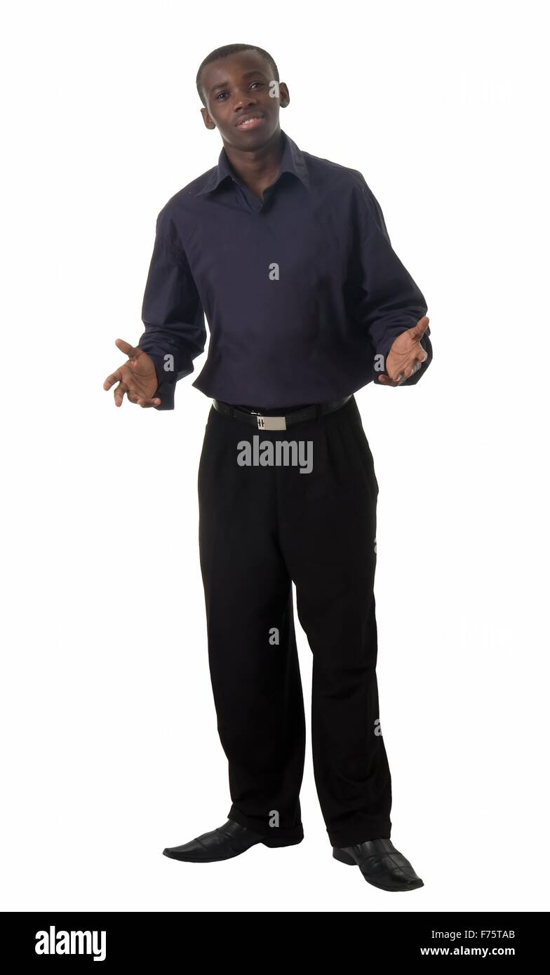 young man stands - Stock Image