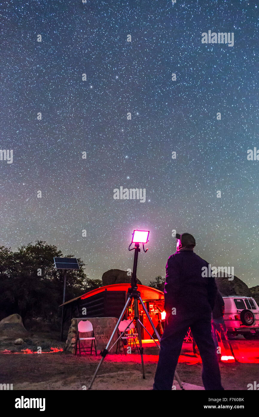 A scene at the public 'Parks 'n Stars' stargazing night, March 15, 2015, at the City of Rocks State - Stock Image