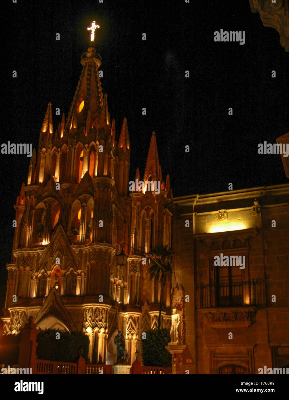 The Parroquia in San Miguel de Allende, Mexico Stock Photo