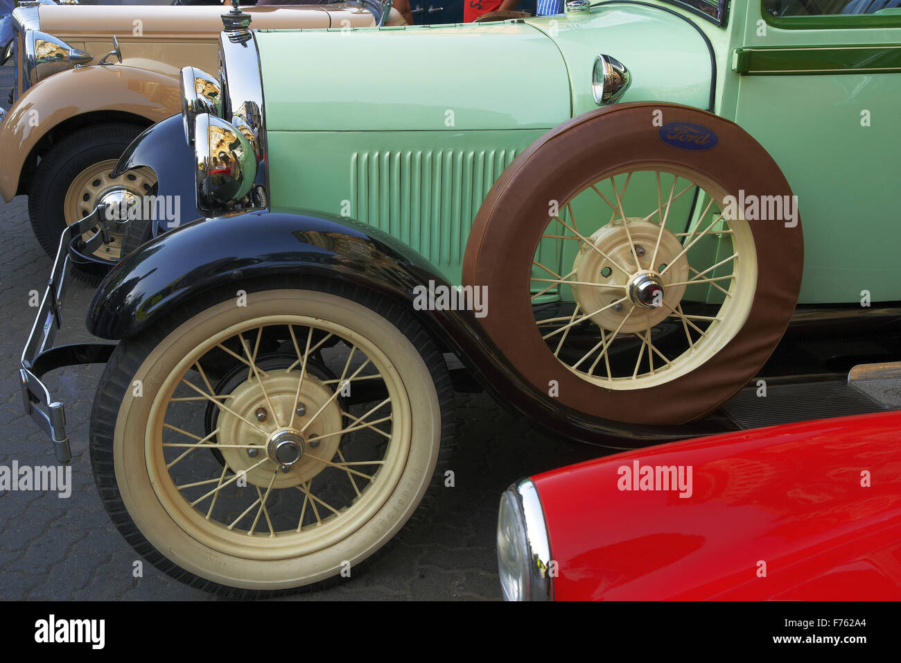 Vintage car ford, india, asia - Stock Image