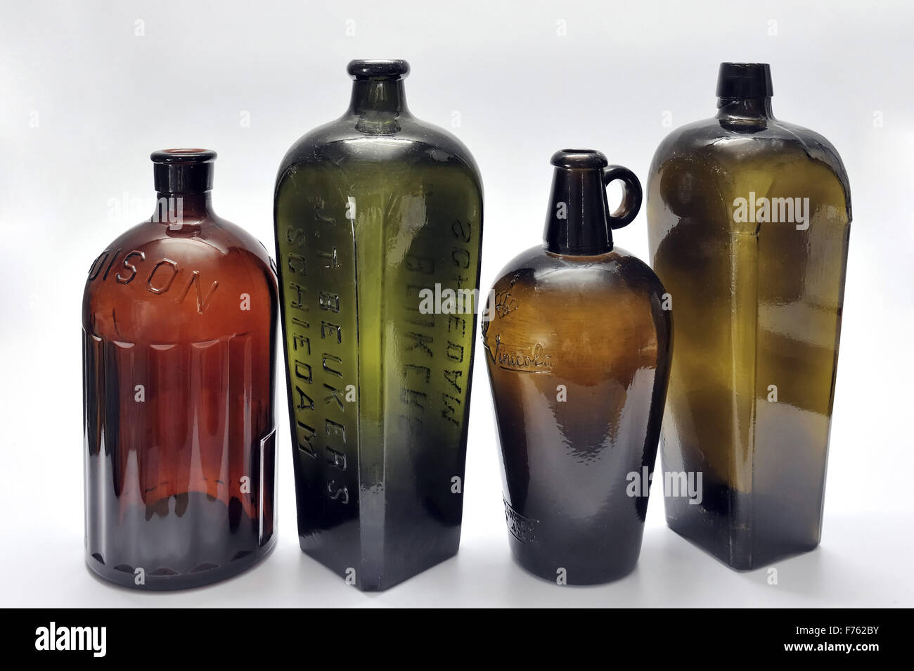 Antique, bottles, india, asia - Stock Image