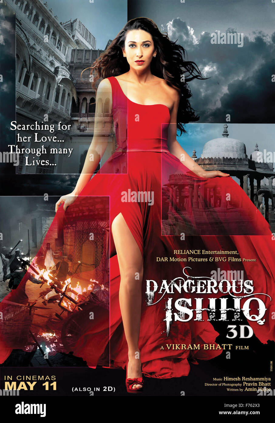 hindi film movie poster of dangerous ishq, india, asia stock photo