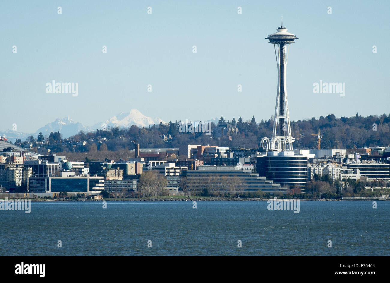 Seattle, Washington, USA. 21st Nov, 2015. Seattle's Space Needle, located within Seattle Center, can be seen from Stock Photo