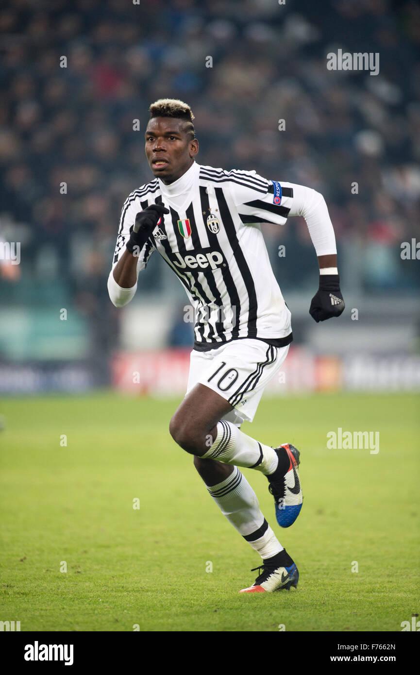 Turin Italy 25th Nov 2015 Paul Pogba Juventus Football Soccer Stock Photo Alamy